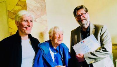 Arthur Jacobs avec ses directeurs de thèse, Ariane Levy-Schoen et Kevin O'Regan